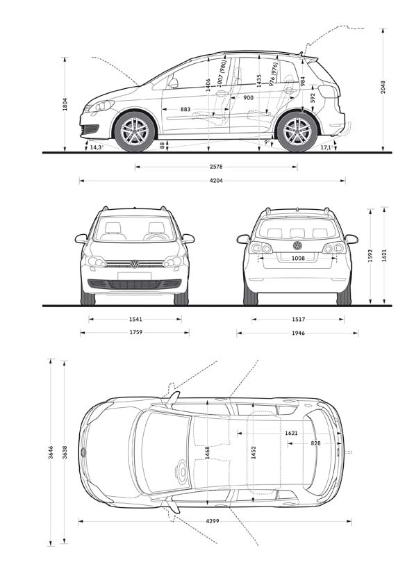 default Vw Golf 2014 Dimensions