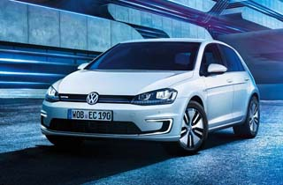 Volkswagen e-Golf large exterior view front  thumbnail