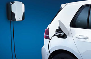 Volkswagen e-Golf exterior view rear charging station thumbnail