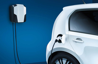 Volkswagen e-Up exterior view right side rear charger large thumbnail