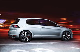 Grey Volkswagen Golf GTI VII large exterior view right side large thumbnail