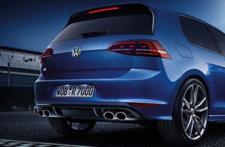 Blue Volkswagen Golf GTI VII large exterior view rear large thumbnail