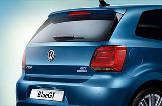Blue Volkswagen Polo GP large exterior view rear