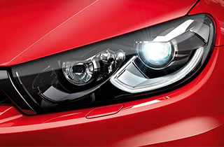 Red Volkswagen Scirocco GP exterior view front left headlamp large thumbnail
