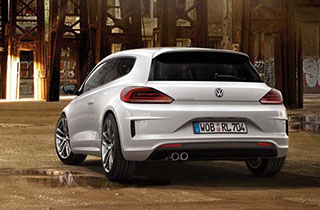 White Volkswagen Scirocco GP exterior view rear large thumbnail