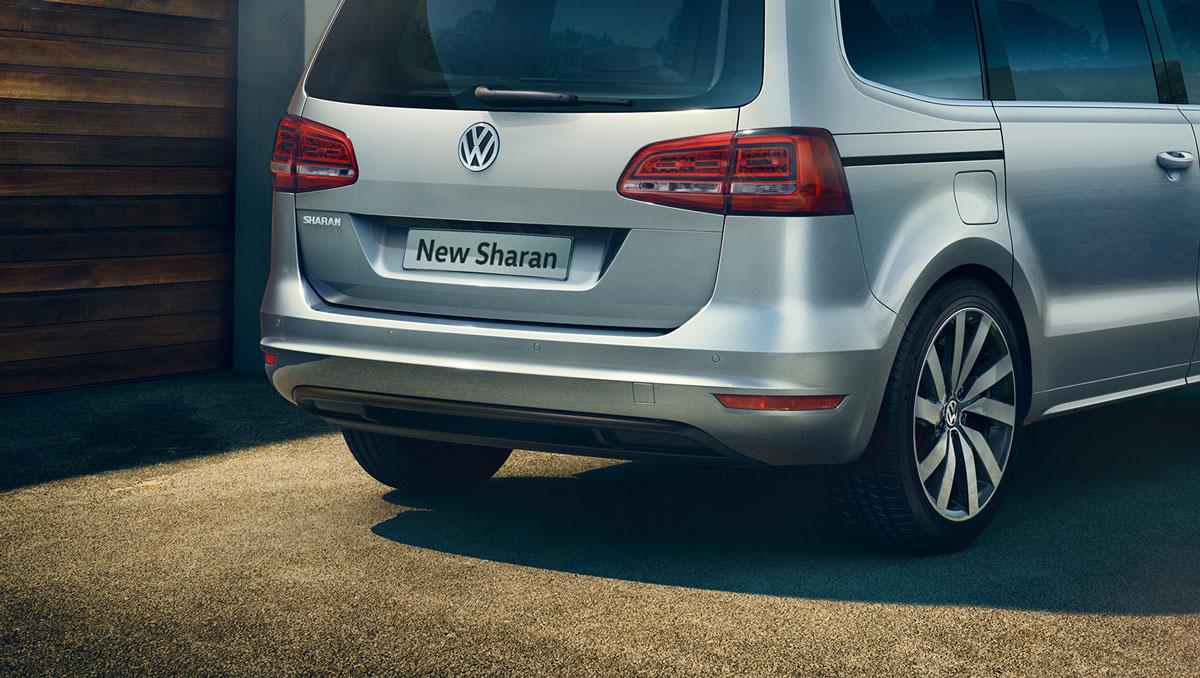 Silver Volkswagen Sharan FL thumbnail exterior view rear