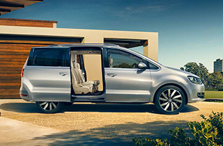 Silver Volkswagen Sharan FL external view right side thumbnail