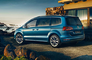 Blue Volkswagen Sharan FL external view left side thumbnail