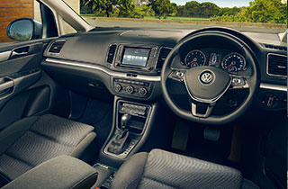Volkswagen Sharan FL interior view front seats steering wheel thumbnail