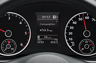 Volkswagen Tiguan GP interior view speedometer