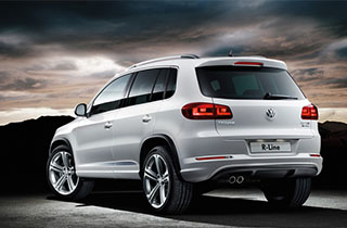 White Volkswagen Tiguan GP large exterior view rear