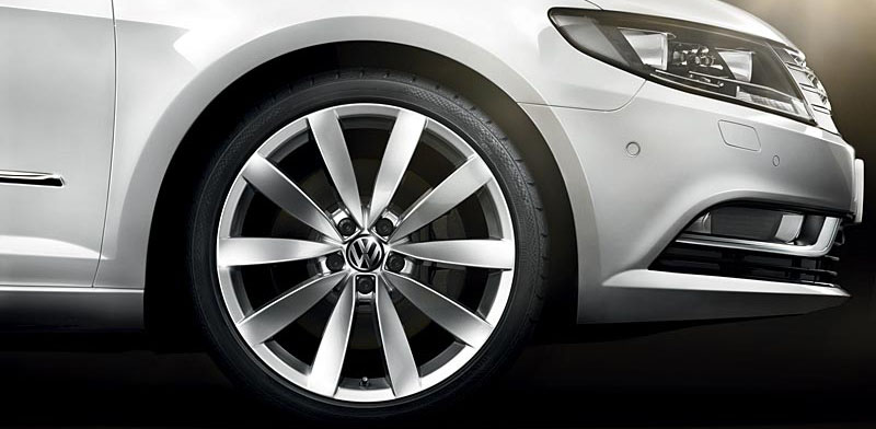 Silver Volkswagen CC FL exterior view front right wheel thumbnail