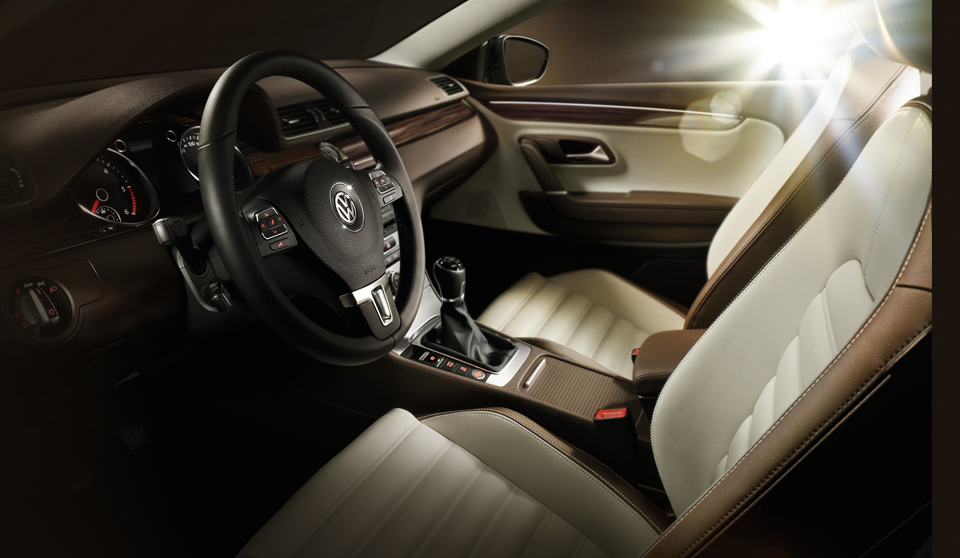 Volkswagen CC FL interior view front seats steering wheel thumbnail