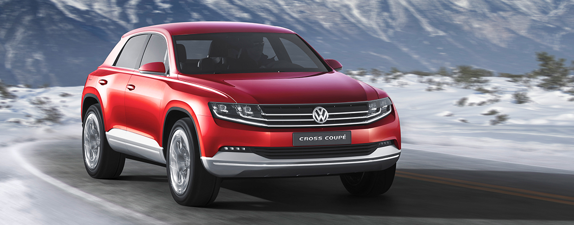Cross Coupé concept Volkswagen on the road