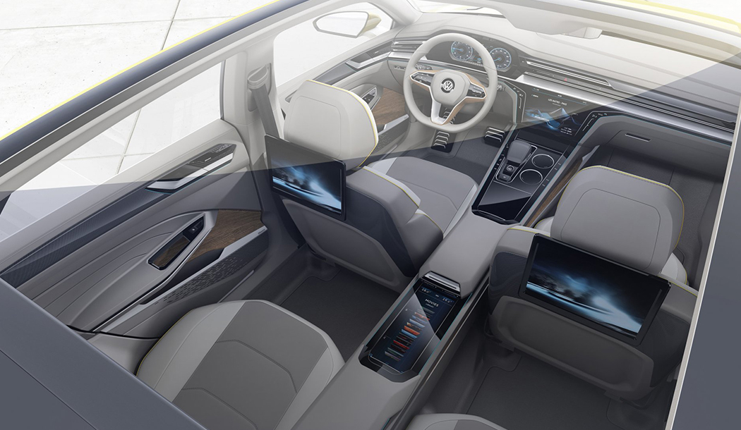 Volkswagen interior on the coupe concept