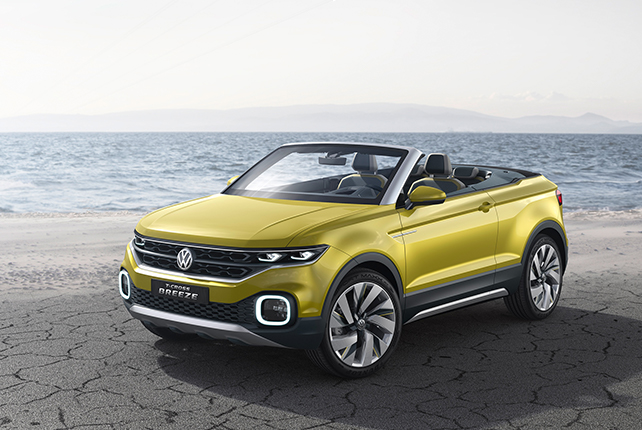 The Volkswagen T-Cross Breeze by the sea