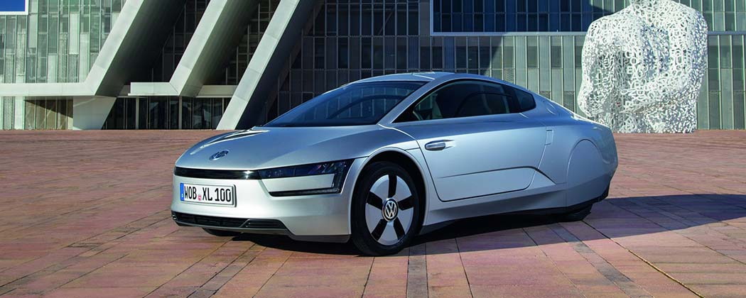 The Volkswagen XL1 stationary