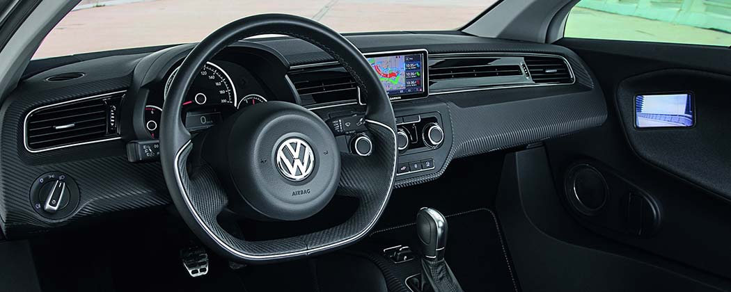 The interior of the Volkswagen XL1