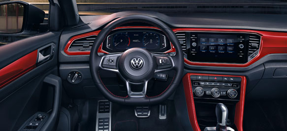 New volkswagen t roc our 2018 range volkswagen uk for Interior volkswagen t roc