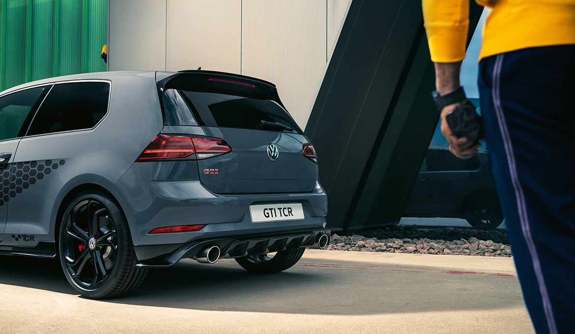 The rear of the Golf GTI TCR
