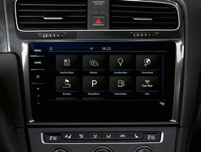 The Car-Net system display in the Golf GTI