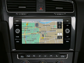 The navigation system of the Golf GTI