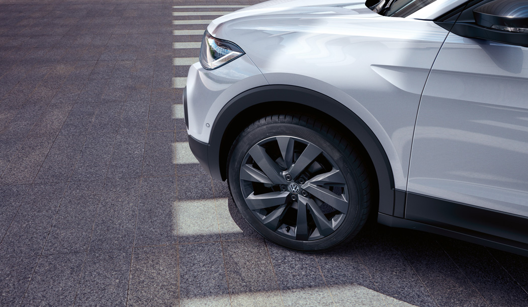 Close up of the T-Cross First Edition's alloy wheel