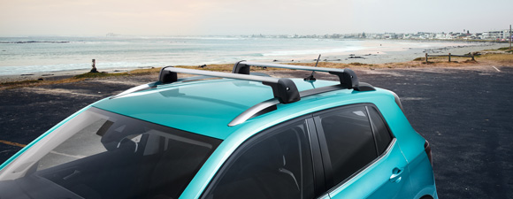 Roof bars on a T-cross