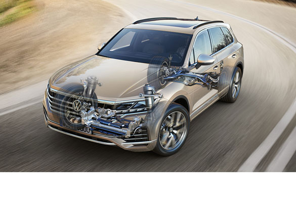 Touareg active roll stabilization