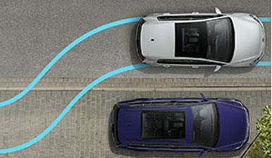 Graphic demonstrating Park Assist