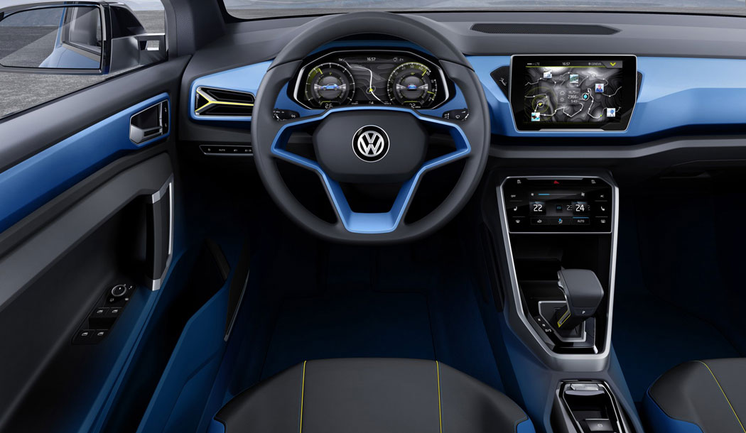 T-Roc concept car interior dash