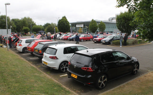 Golf GTIs in a car park