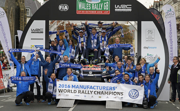 Rally Winning Team Race Podium Volkswagen