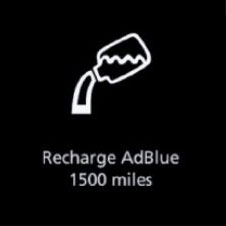 Recharge AdBlue warning light