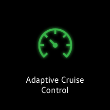Adaptive cruise control active light