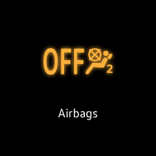 Airbags warning light
