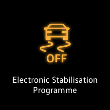 Electronic stabilisation programme warning light