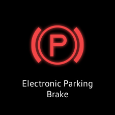 Electronic parking brake warning light
