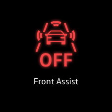 Front assist warning light