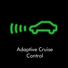 Adaptive cruise control warning light