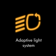 Adaptive light system warning light