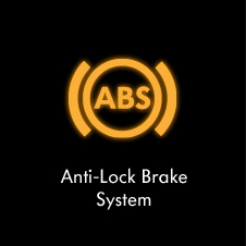 Anti-lock brake system warning light