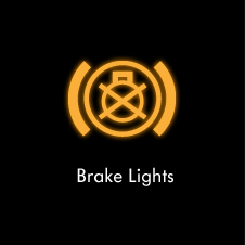 Brake lights warning light