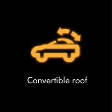 Convertible roof warning light