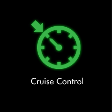 Cruise control warning light