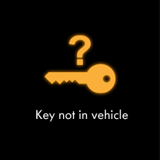 Key not in vehicle warning light