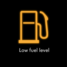 Low fuel level warning light