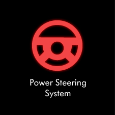 Power steering system warning light