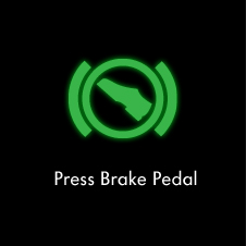 Press brake pedal warning light