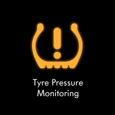Tyre pressure monitoring warning light